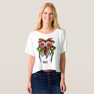 "Dwainizms ""BUG"" Women's  Boxy Crop T-Shirt"