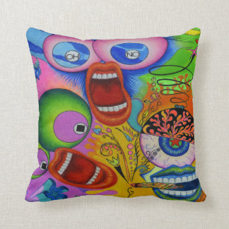 "Dwainizms Colorful ""OH NO!"" Throw Pillow 16""x16"""
