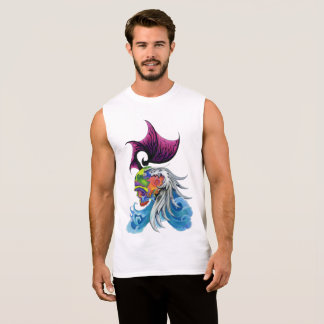 "Dwainizms ""Dragon Skull"" Men's Cotton Sleeveless T Sleeveless Shirt"