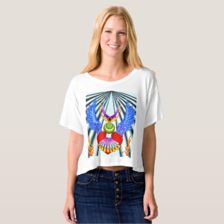 "Dwainizms ""Heart Wings"" Boxy Crop Top T-Shirt"