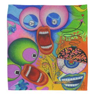 """Dwainizms """"OH NO!"""" Vividly-Colored Custom Bandana"""
