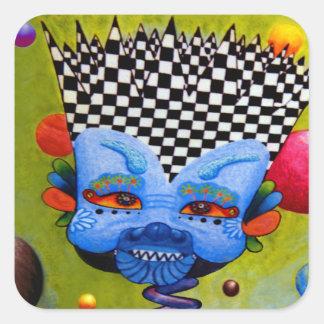 Dwainizms Vivid BlueMan Square Stickers, Gloss Square Sticker