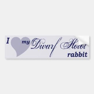 Dwarf Hotot rabbit bumper sticker