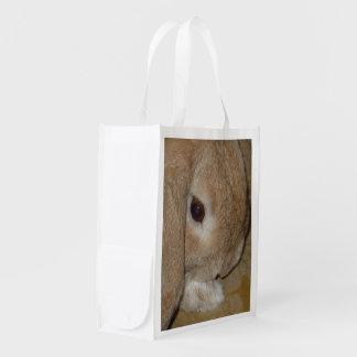 Dwarf Lop Eared Rabbit Photo Image Reusable Bag Grocery Bag