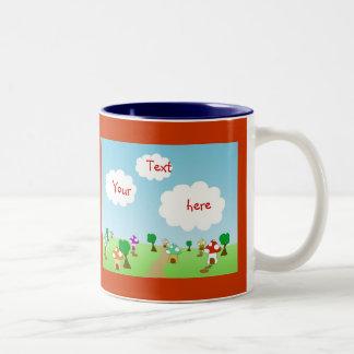 Dwarf Village Two-Tone Coffee Mug