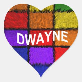 DWAYNE HEART STICKER