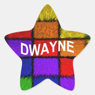 DWAYNE STAR STICKER