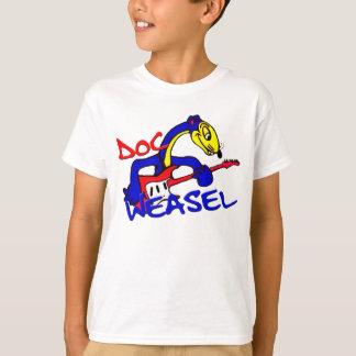DWB blue weasel logo T-Shirt