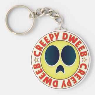 Dweeb Creepy Basic Round Button Keychain