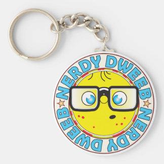 Dweeb Nerdy Basic Round Button Keychain