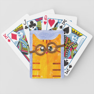 Dweeby cat bicycle playing cards
