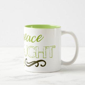 Dwell in peace in thought in word Two-Tone coffee mug
