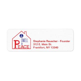 Dwell In Peace return address labe