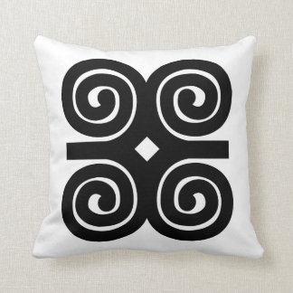 Dwennimmen - Strength and Humility Adinkra Symbol Throw Pillow
