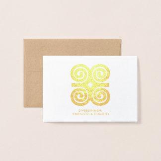Dwennimmen | Strength Humility Adinkra Symbol Foil Card