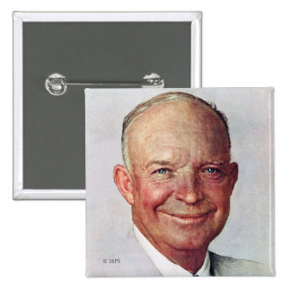 Dwight D. Eisenhower 2 Inch Square Button
