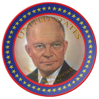 Dwight D Eisenhower 34th President Porcelain Plates