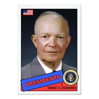 Dwight D. Eisenhower Baseball Card