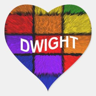DWIGHT HEART STICKER