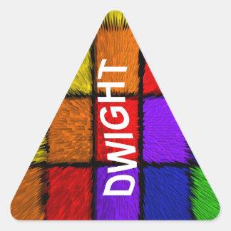 DWIGHT TRIANGLE STICKER