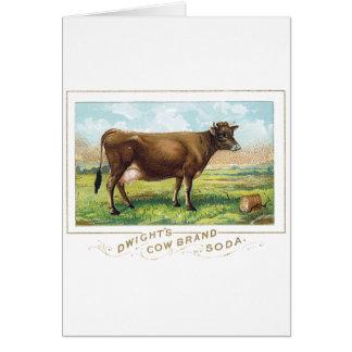 Dwight's Cow Brand Soda Card