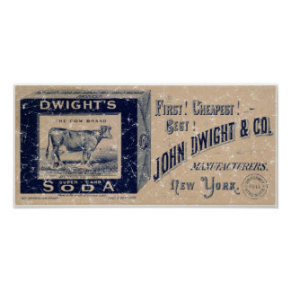 Dwight's Soda-1879 - distressed Poster