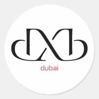 dxb - dubai round sticker