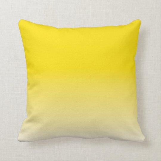 Dye fog Yellow Throw Pillow