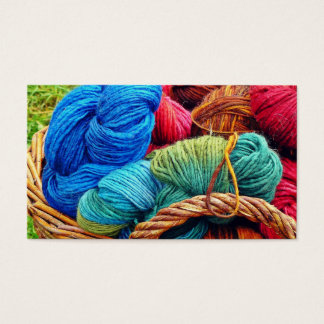 Dyed Wool for Knitting Business Card