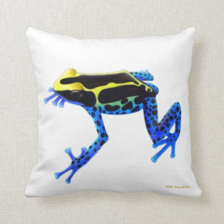 Dyeing Poison Dart Frog Pillow