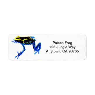 Dyeing Poison Frog Avery Label
