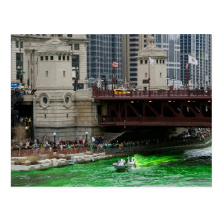Dyeing the Chicago River Green! Postcards