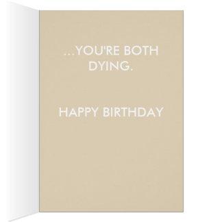 DYING ROSE BIRTHDAY CARD