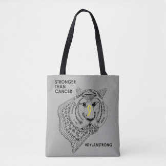 Dylan Strong Two Sided Tote Bag - Grey