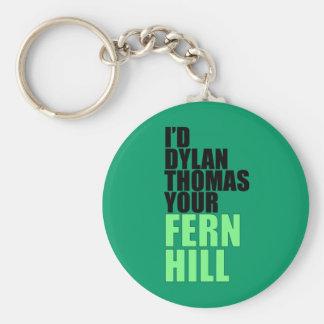 Dylan Thomas, Fern Hill Basic Round Button Keychain