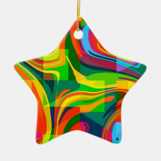 Dynamic abstract ceramic ornament