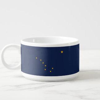 Dynamic Alaska State Flag Graphic on a Bowl