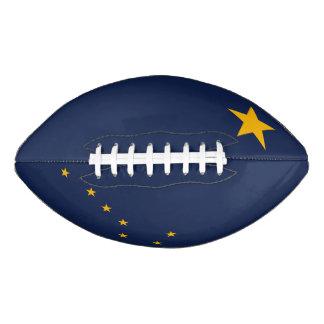Dynamic Alaska State Flag Graphic on a Football