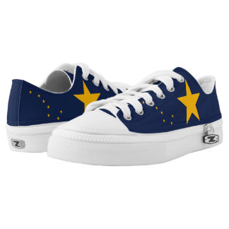 Dynamic Alaska State Flag Graphic on a Low-Top Sneakers