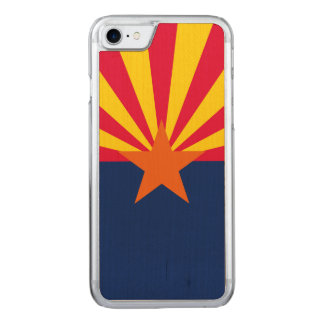 Dynamic Arizona State Flag Graphic on a Carved iPhone 8/7 Case