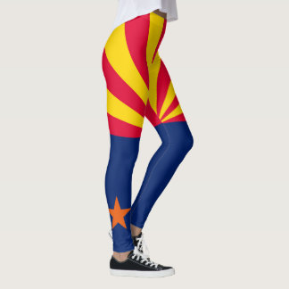 Dynamic Arizona State Flag Graphic on a Leggings