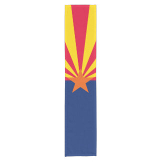 Dynamic Arizona State Flag Graphic on a Short Table Runner
