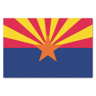 Dynamic Arizona State Flag Graphic on a Tissue Paper