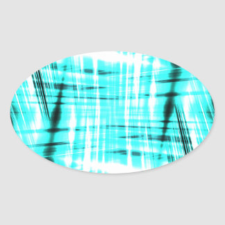 Dynamic blue streaked background oval sticker
