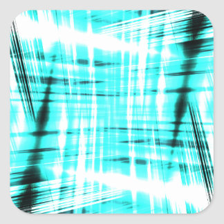 Dynamic blue streaked background square sticker