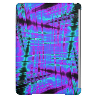 Dynamic blue streaked pattern iPad air cover