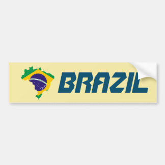 Dynamic Brazil Flag Map Sticker