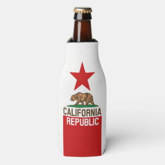 Dynamic California State Flag Graphic on a Bottle Cooler