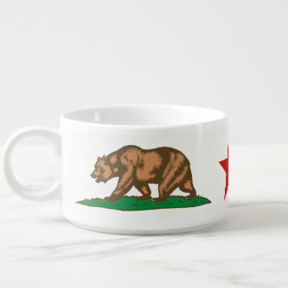 Dynamic California State Flag Graphic on a Chili Bowl