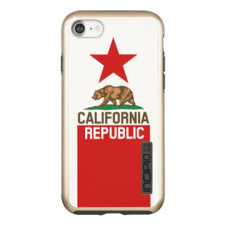 Dynamic California State Flag Graphic on a Incipio DualPro Shine iPhone 8/7 Case